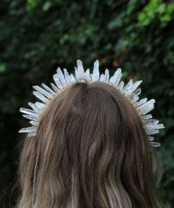 Crystal crowns and hair clips